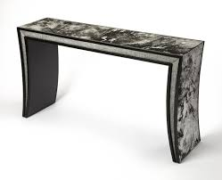 ardmore hair on hide leather console table