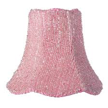 shade chandelier pink glass bead