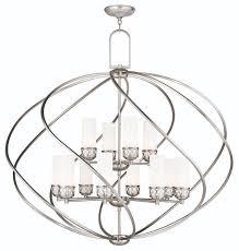 livex lighting 47199 91 brushed nickel westfield 12 light 2 tier chandelier