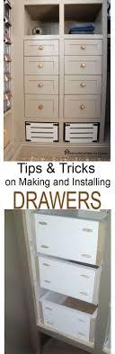 Kitchen Cabinet Drawers Slides 25 Best Ideas About Installing Drawer Slides On Pinterest Pull