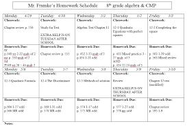 Weekly Homework Assignment Sheet 3rd Grade Homework Assignment Sheet For California High