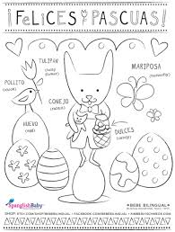 Small Picture Felices Pascuas Happy Easter coloring sheet in Spanish