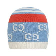 G9 Golden Result Chart Gucci Boys Blue Cotton Gg Baby Hat