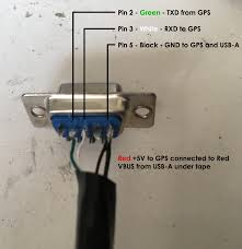 connecting a gps to a bcd996p2 scanner leo altmann NMEA 2000 Network Wiring Diagrams pin 2 green txd from gps; pin 3 white rxd to