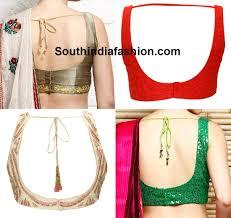 U Neck Saree Blouse Design Blouse Neck Designs South India Fashion