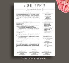 1 Page Resume Impressive Teacher Resume Template For Word Pages Teacher CV Template