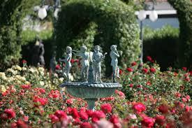 Fountain In The Rose Garden At Empire Polo Club Garden