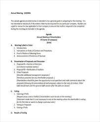 Sample Agendas For Board Meetings Agenda Format Omfar Mcpgroup Co