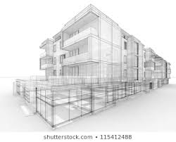 Architecture design concept Hospital Apartment Building Design Concept Architects Computer Generated Visualization In Drawing Style Shutterstock Apartment Building Design Concept Architects Computer Stock