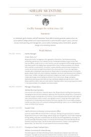 Facility Manager Resume Sample Best of Sports Management Resume Unique Facility Manager Resume Samples