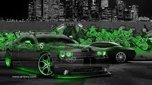dodge challenger muscle crystal graffiti car