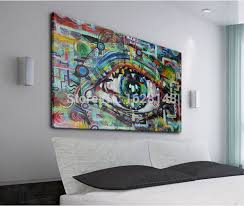 painting on the wallFashion Contemporary abstract painting eyes art hand made modern