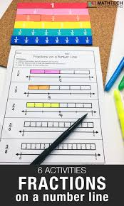 Equivalent Fraction Number Line Chart 6 Activities To Practice Fractions On A Number Line Math