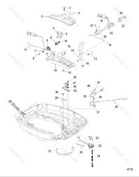 Mercury mercury mariner outboard parts by hp liter 15hp oem parts diagram for throttle shift linkage handle models boats