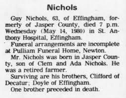 Guy Nichols 1980 Obituary - Newspapers.com