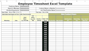 Excel Formula For Timesheet Excel Employee Time Sheet With Overtime Timesheet Lunch And