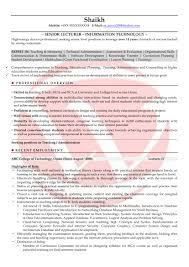 Lecturer Sample Resumes Download Resume Format Templates Within