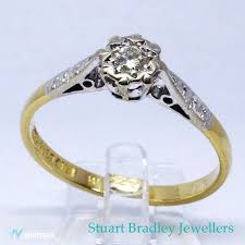 1960s Diamond Solitaire Ring Size P Uk 7 75 Us Free
