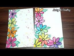 How To Decorate A Chart Paper Border Floral Border Design Easy Border Design For Chart Paper
