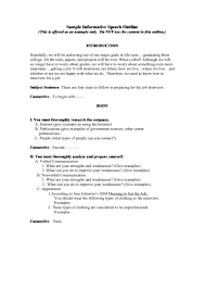 Informative Speech Outline Template Sample Informative Speech Outline Template Printable Pdf