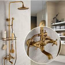 vintage brass bathroom outdoor shower faucets with shelves vintage shower faucet