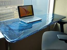 custom glass desk top remarkable rustyridergirl home ideas 10