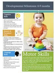 Peds Ot Tips Developmental Milestone Chart 6 To 9 Months