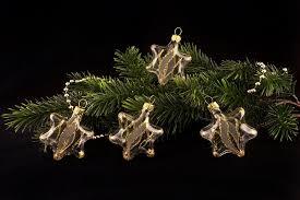 4 Sterne Transparent Gold Gst Christbaumkugeln Aus Lauscha