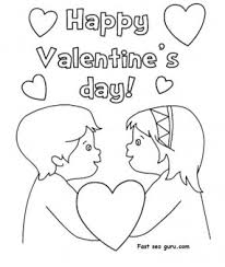Small Picture Happy valentines day hearts coloring pages Printable Coloring