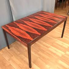 danish table vintage danish boldly figured rosewood expandable dining table 4 danish modern coffee table legs