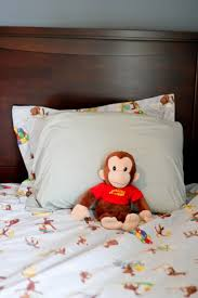 wondrous curious george toddler bedding for amazing bedroom decorating ideas