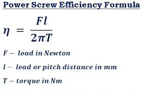 Square Thread Chart In Mm Power Screw Efficiency Calculator