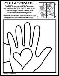 Radial Symmetry Collaborative Kindness Activity Coloring Page