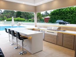Outdoor Barbecue Kitchen Designs An Outdoor Fridge Is An Essential For A High End Built In Bbq