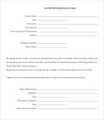 Release Form Template 10 Free Sample Example Format Free