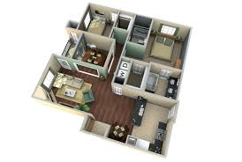 Three  Bedroom Apartment House Plansapartment Floor Plans - Small apartment floor plans 3d