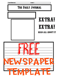 Extra Extra Newspaper Template Newspaper Template Ashleighs Education Journey
