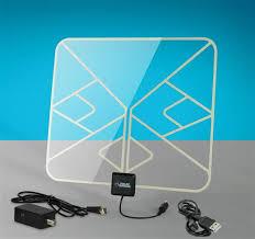 tv indoor antenna. solid signal hd-blade flat amplified hdtv indoor antenna clear (hdblade100ca) tv