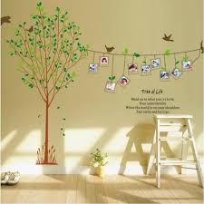 photo frame tree and birds tree of life wall sticker