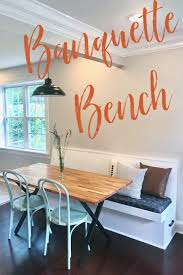 Measure the length of the table. Diy Banquette Bench Or Dining Bench With Storage