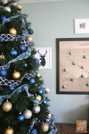Exciting Blue And Gold Christmas Tree 30 About Remodel Home Decor Ideas  with Blue And Gold Christmas Tree