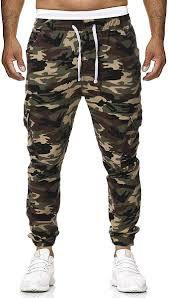 Designer Camo Pants Ts Rd Ug Mens Camo Pants Joggers Casual Sweatpants Multi Pockets Elastic Waist Cargo Pant