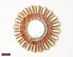 red round wall mirrors 17 7 handcrafted