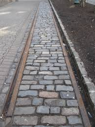 touring the stevens family legacy hmag the original trolley tracks outside the hoboken land improvement company building