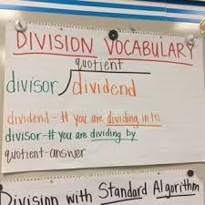 Standard Algorithm Division Anchor Chart Www