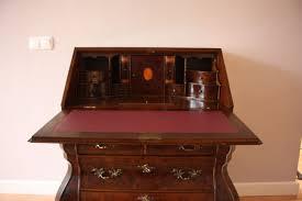henkel harris solid mahogany slant front desk secretary with bookcase and matching chair 061350 american jasper mahogany secretary desk