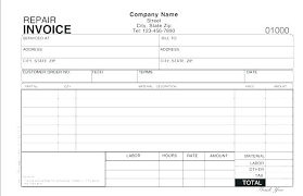 Invoice Template Word Adorable Automotive Invoice Template Word Lovely Repair Excel Free Auto R