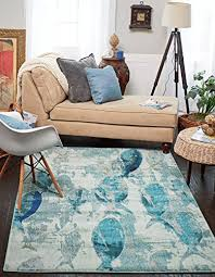 a2z rug california collection light blue 4 x 6 feet modern