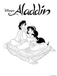 Coloriage Disney Aladdin Dessin