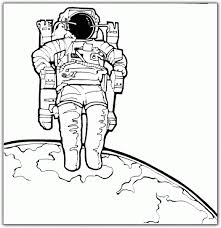 Small Picture Astronaut coloring page